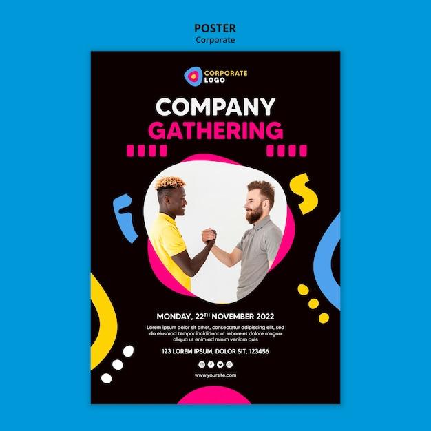 창의적인 기업 팀을위한 세로 포스터 무료 PSD 파일