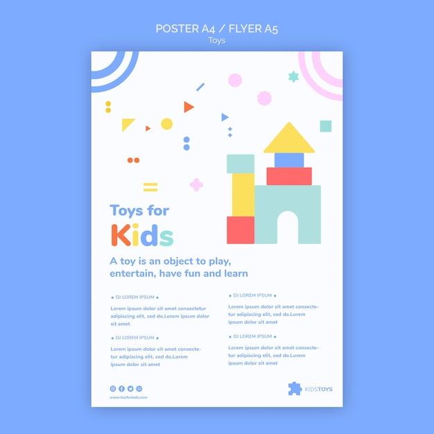 Вертикальный плакат для детских игрушек онлайн Бесплатные Psd