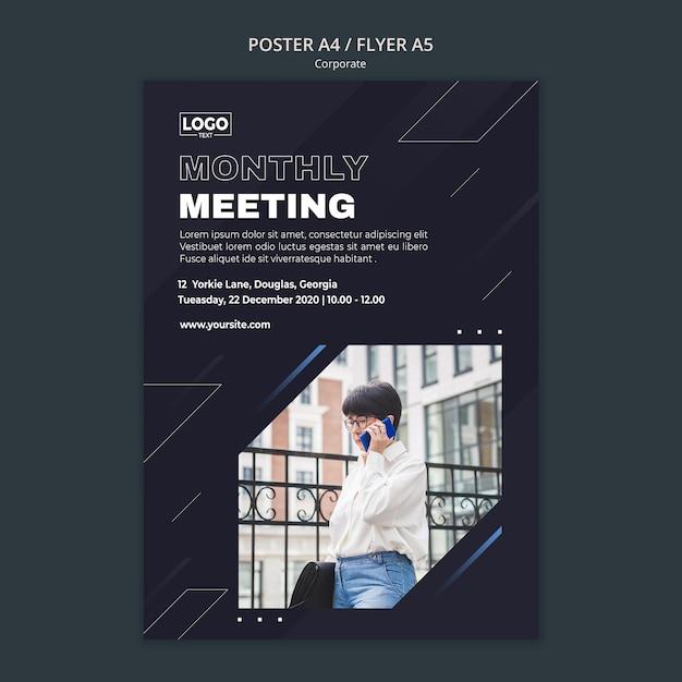 Вертикальный плакат для профессиональной бизнес-корпорации Бесплатные Psd