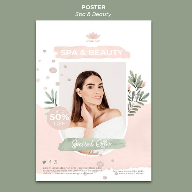 Вертикальный плакат для спа и терапии Premium Psd