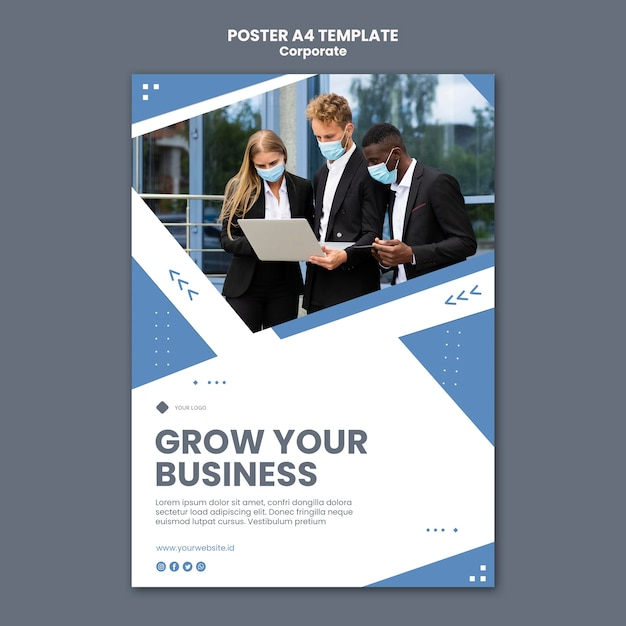 Vertical poster for professional business Free Psd