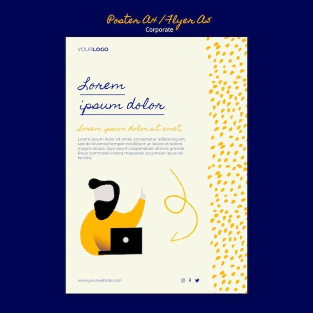 기업 비즈니스를위한 세로 포스터 템플릿 무료 PSD 파일