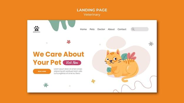 Vet clinic landing page template Premium Psd