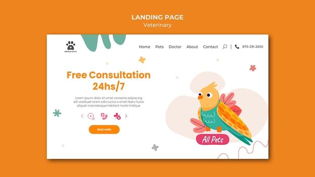 Vet clinic template landing page Premium Psd