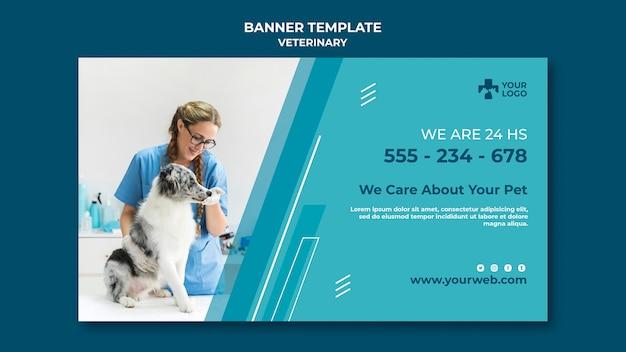 Шаблон баннера ветеринарной клиники Бесплатные Psd