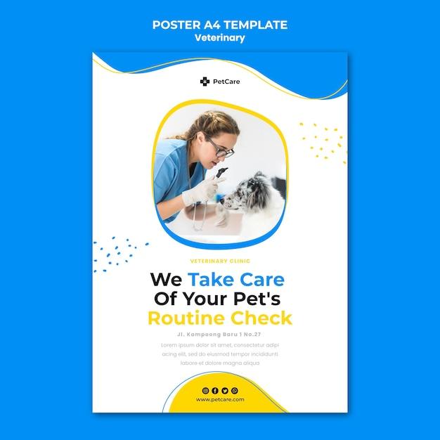 Modello di volantino per clinica veterinaria Psd Gratuite