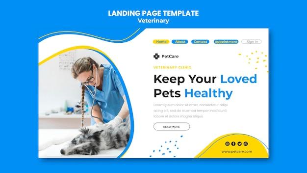 Veterinary clinic template landing page Premium Psd