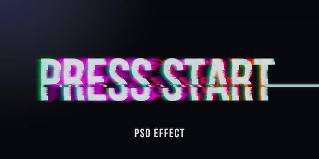 Vhs 글리치 텍스트 효과 모형 프리미엄 PSD 파일