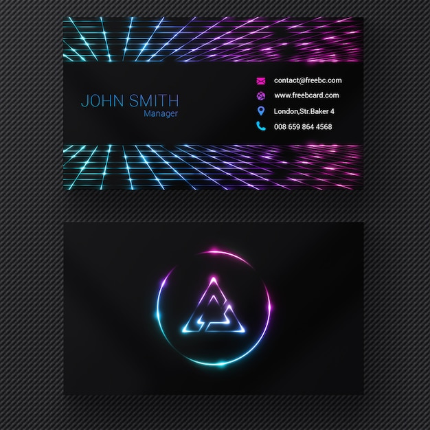 Vibrant business card Free Psd