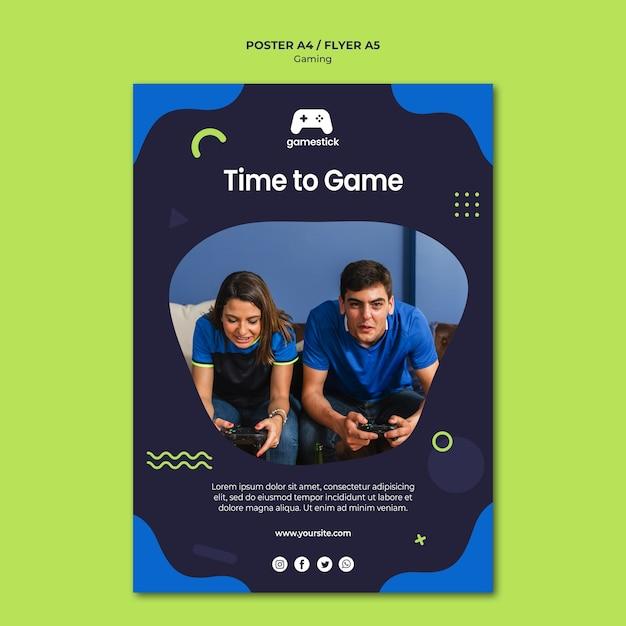 사진 비디오 게임 전단지 템플릿 무료 PSD 파일