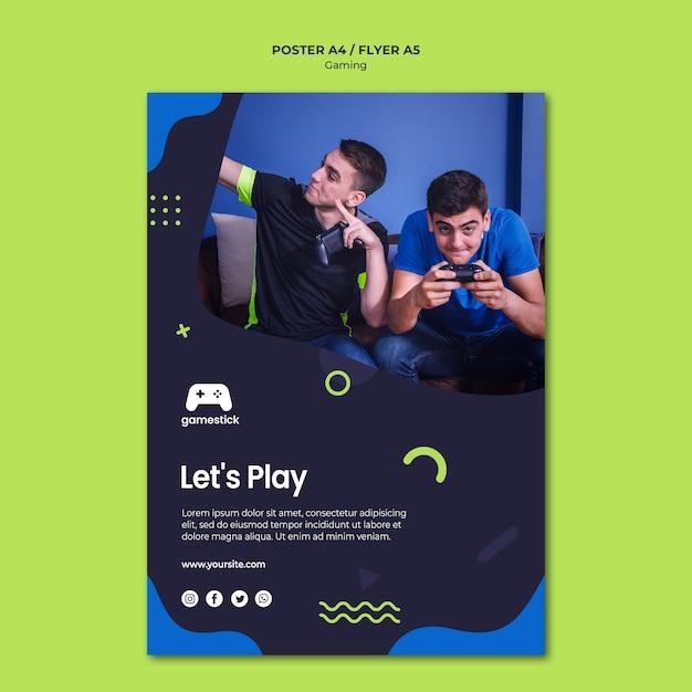 전단지 템플릿-비디오 게임 무료 PSD 파일