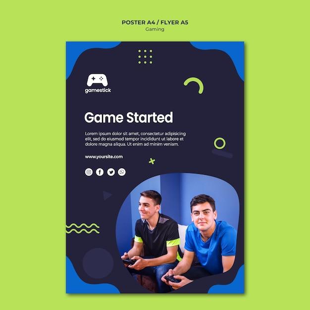 사진 비디오 게임 포스터 템플릿 무료 PSD 파일