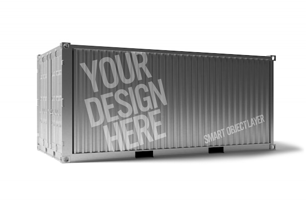 View of a shipping container Premium Psd
