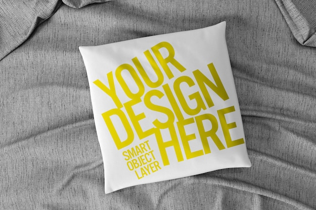 View of a square pillow cushion mockup Premium Psd