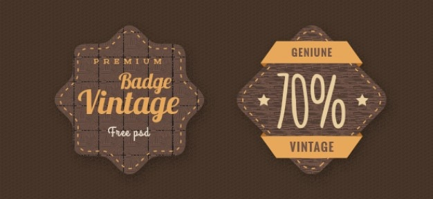 Vintage Badges Psd Template Psd File  Free Download