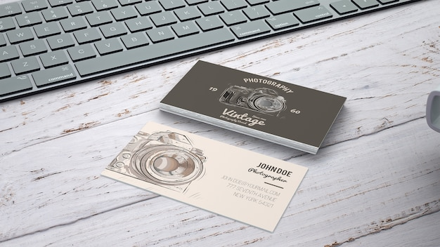 Vintage business card mockup psd file free download vintage business card mockup free psd reheart Image collections