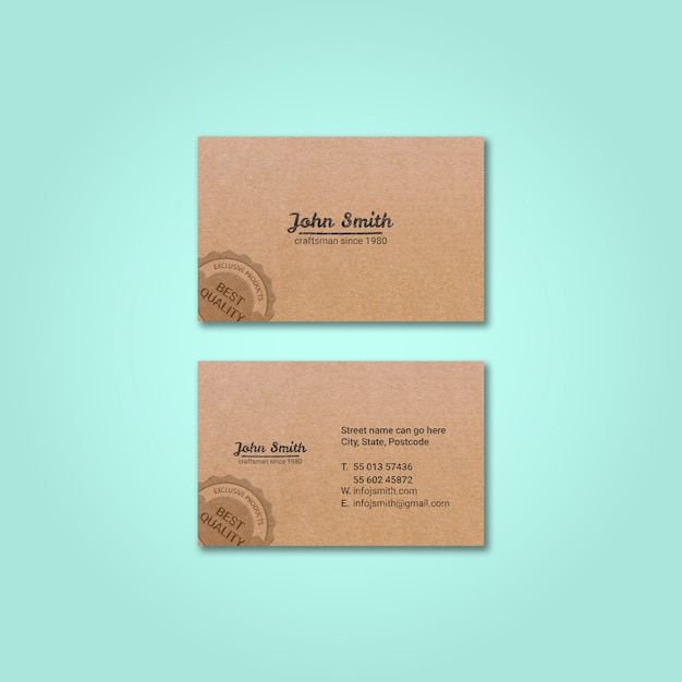 Vintage business card mockup Free Psd