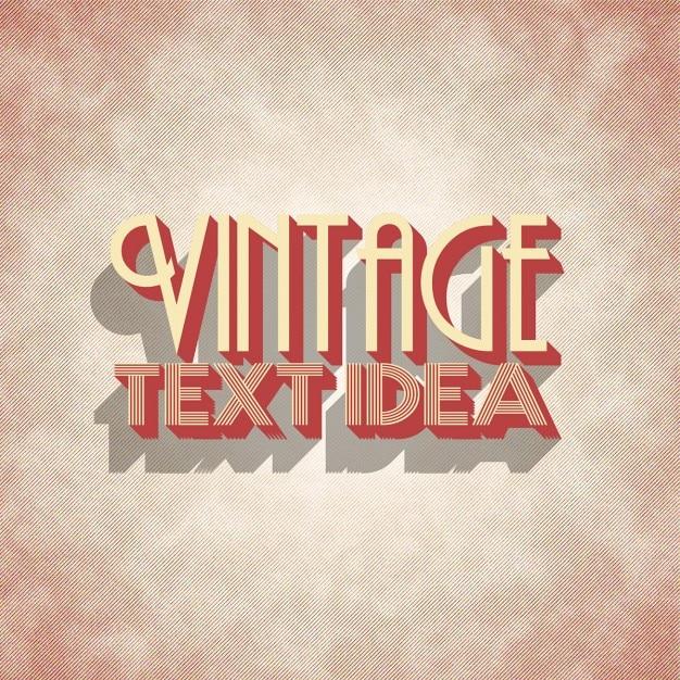 Vintage lettering design Free Psd