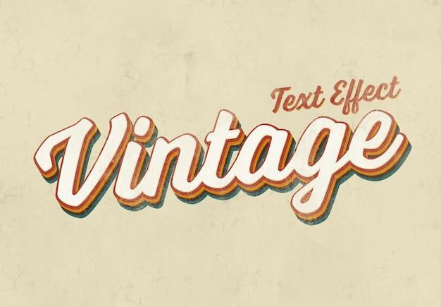 Vintage text effect mockup Premium Psd