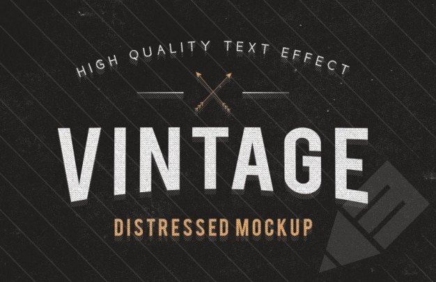 Vintage Text Effect Template Free Psd