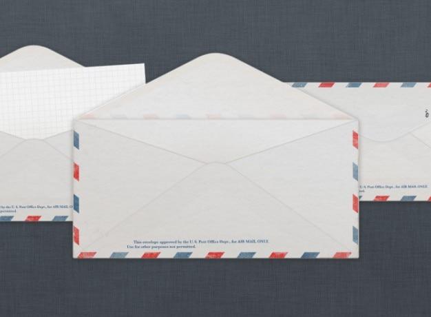 Vintage us air mail envelope psd file free download for Envelope psd