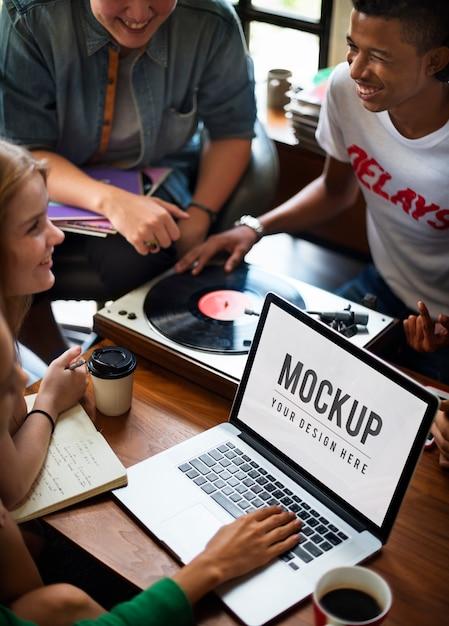 Vinyl music teens lifestyle leisure concept Free Psd