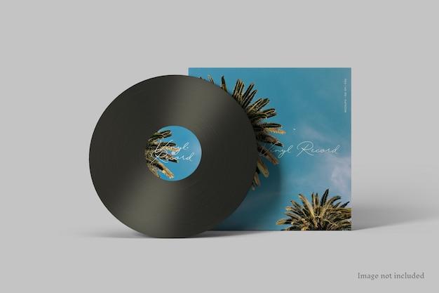 Vinyl record cover mockup Premium Psd