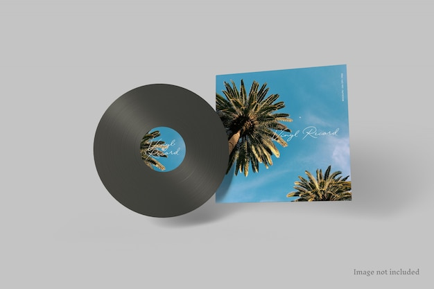 Обложка виниловая пластинка макет Premium Psd