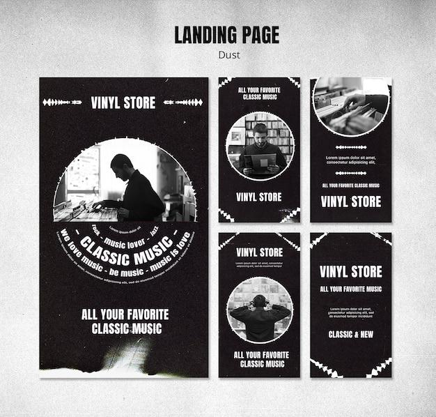 Vinyl store instagram stories template Premium Psd