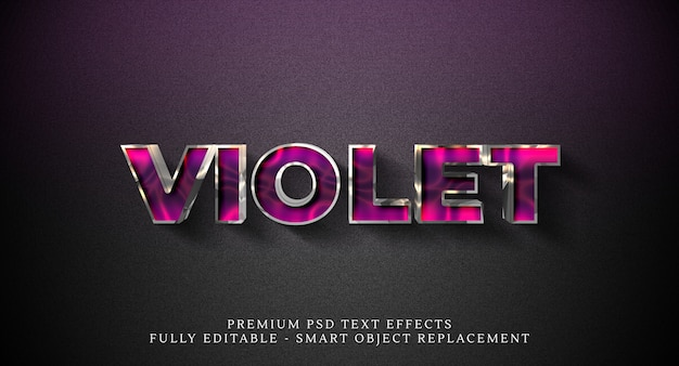 Фиолетовый текстовый эффект psd, премиум psd текстовые эффекты Premium Psd