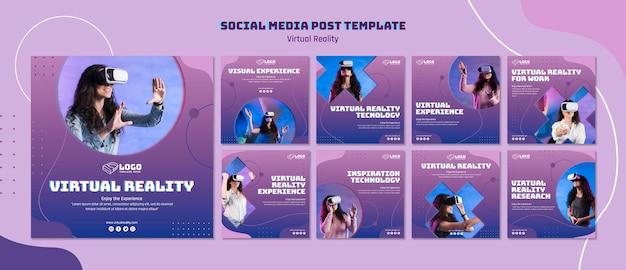 Virtual reality social media post Free Psd