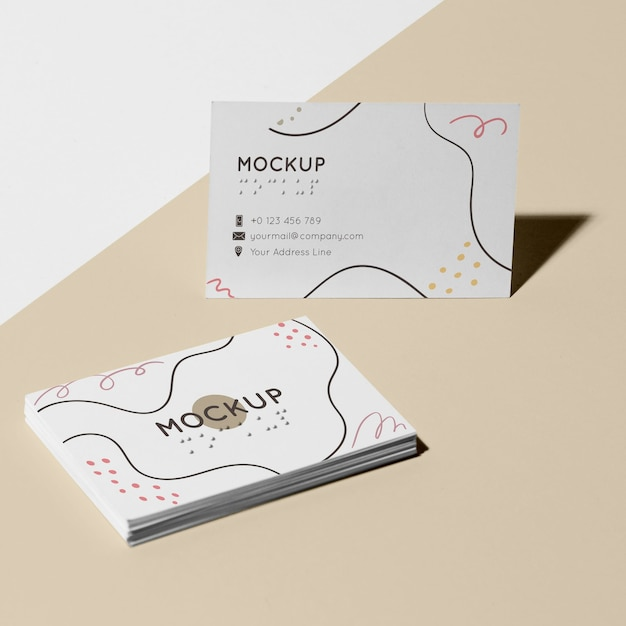 Visiting card with braille mock-up Premium Psd