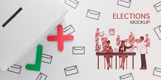 선거 투표 용 투표 무료 PSD 파일