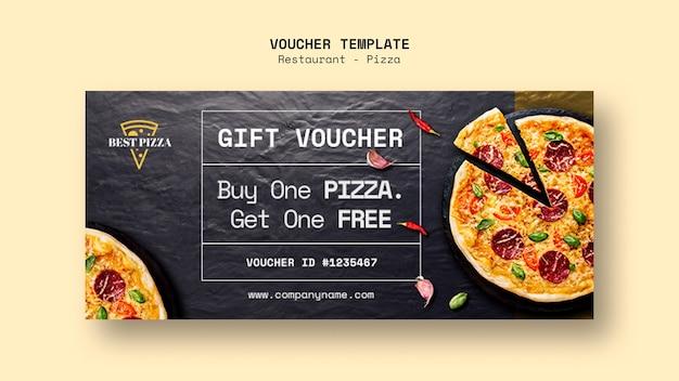 Modello del buono per ristorante pizzeria Psd Gratuite