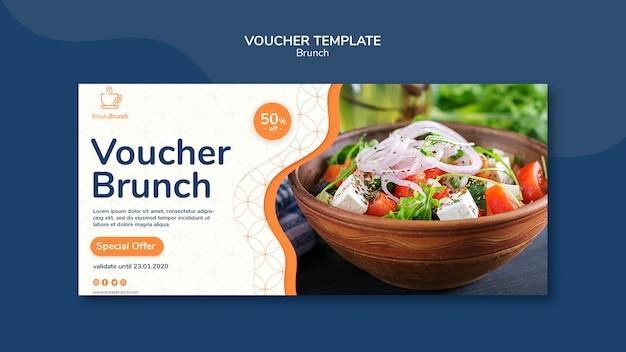 Voucher template with brunch theme Premium Psd