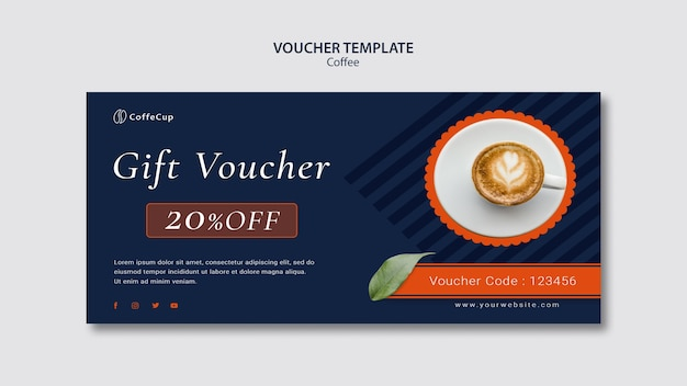 voucher template coffee psd file