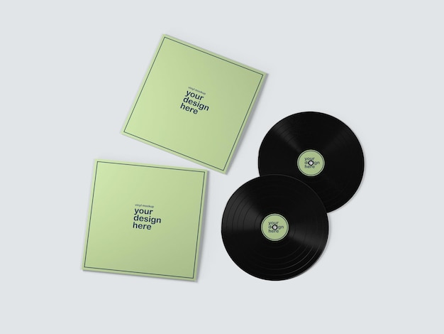 Альбомы vynil record mockup Premium Psd