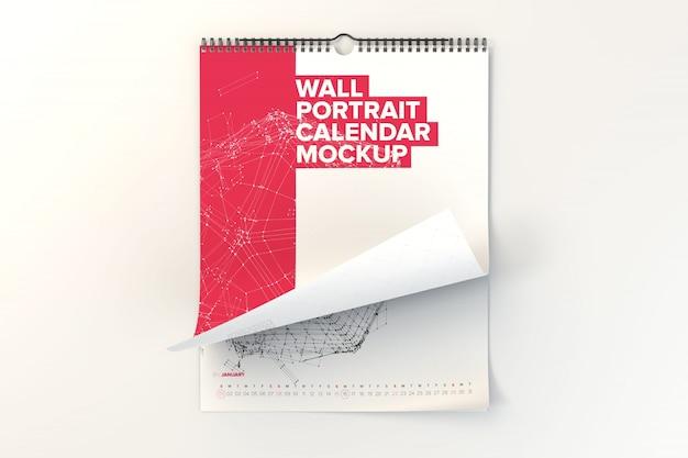 Wall calendar mock up design Premium Psd