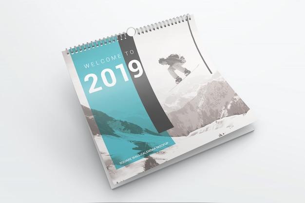 Wall calendar mockup Premium Psd