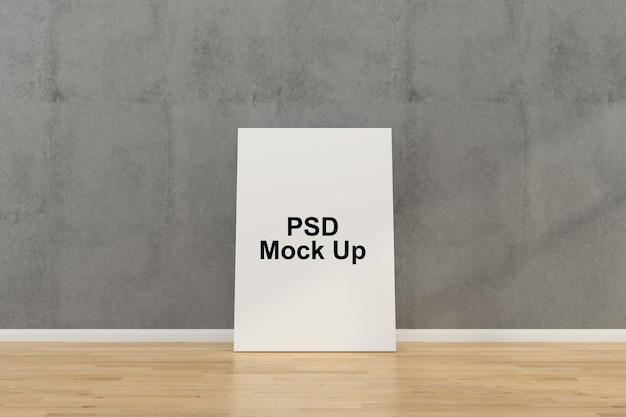 Wall frame mock up template Premium Psd