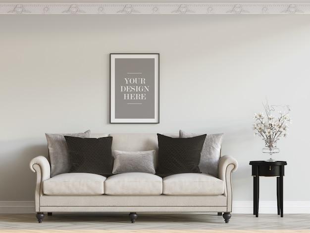 Wall frame mockup Premium Psd