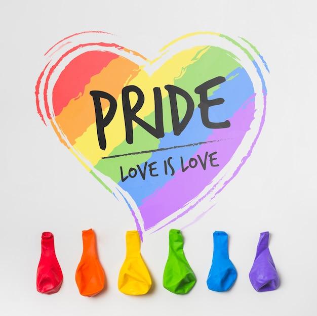 Wall gay pride mockup Free Psd