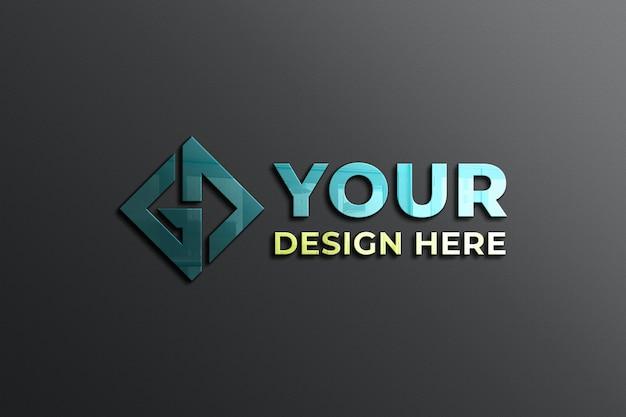 壁ロゴモックアップ Premium Psd