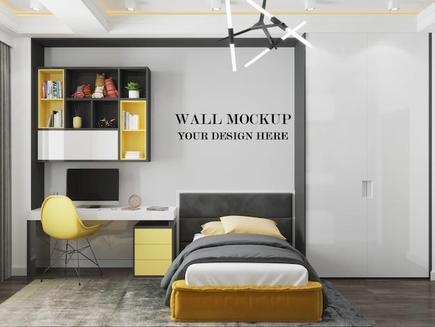 ミニマリストデザインのモダンな部屋の壁のモックアップ Premium Psd