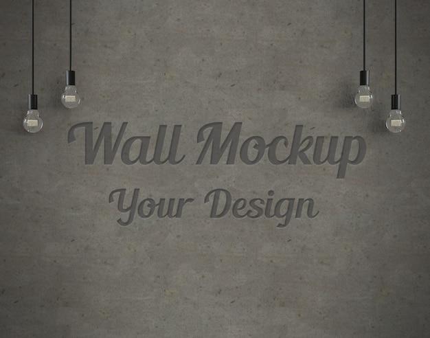 Wall mockup Premium Psd