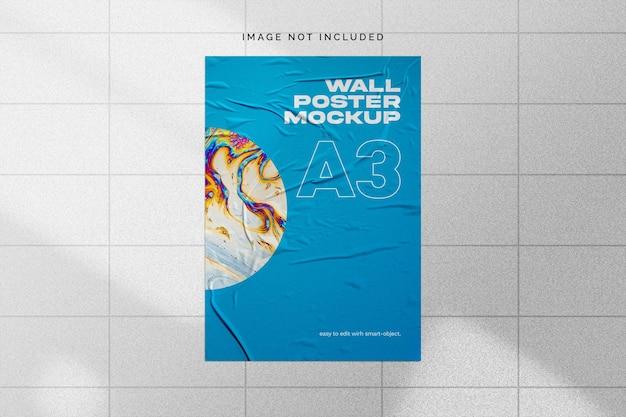 Макет настенного плаката Бесплатные Psd