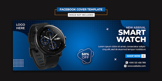 Watch product social media and facebook cover template Premium Psd