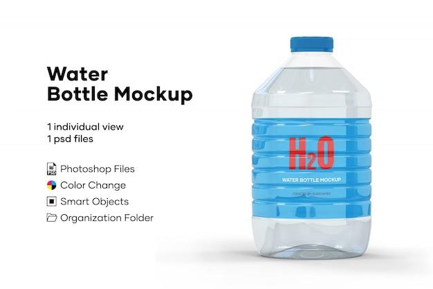 Макет бутылки с водой Premium Psd