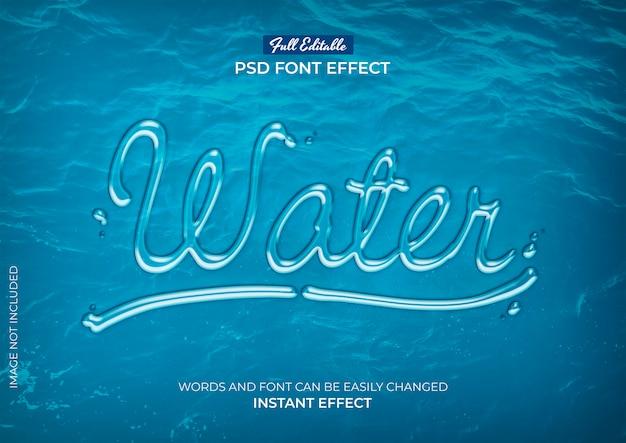 Водный текстовый эффект Бесплатные Psd