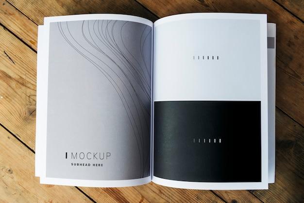 Wave texture magazine page mockup Premium Psd